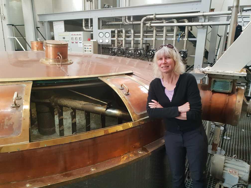 Mash tuns in the Knockdhu whisky distillery