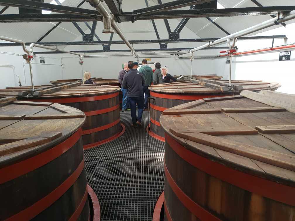 Fermentation in the Knockduh whisky distillery