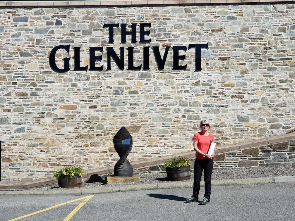 Outside the Glenlivet Distillery with spoils