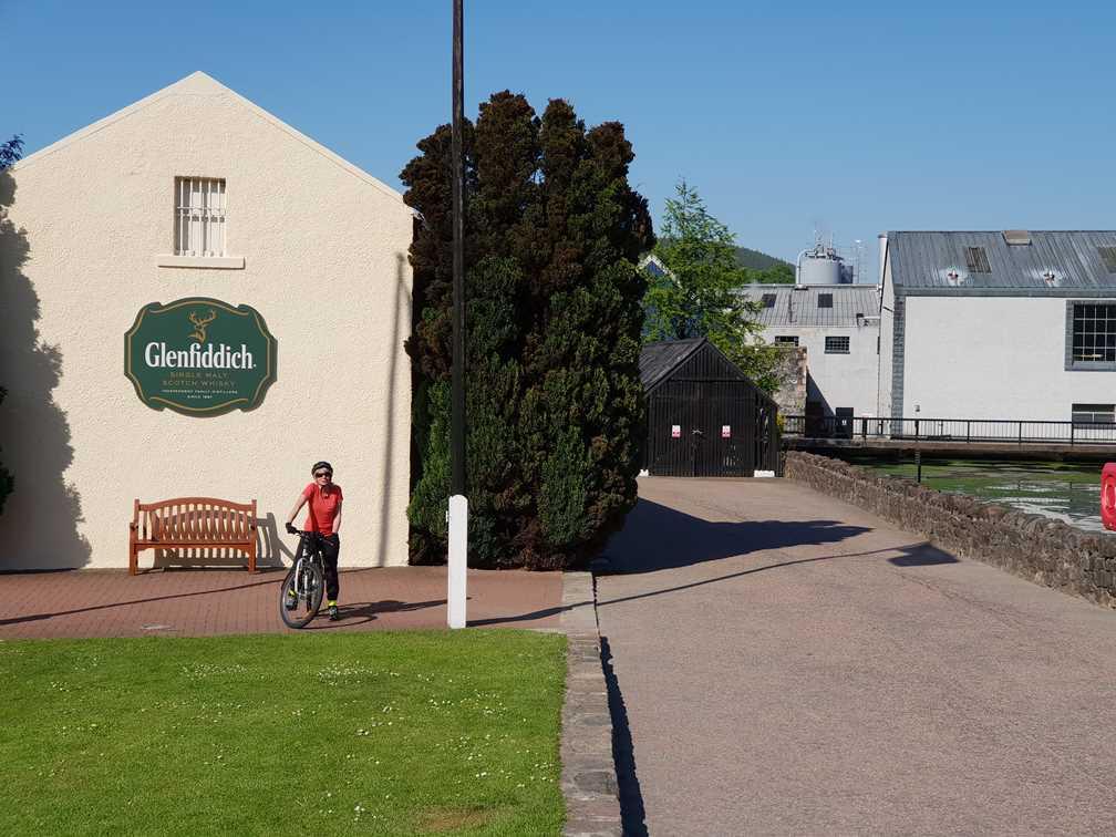 Glenfiddich whisky distillery on the Malt Whisky Trail