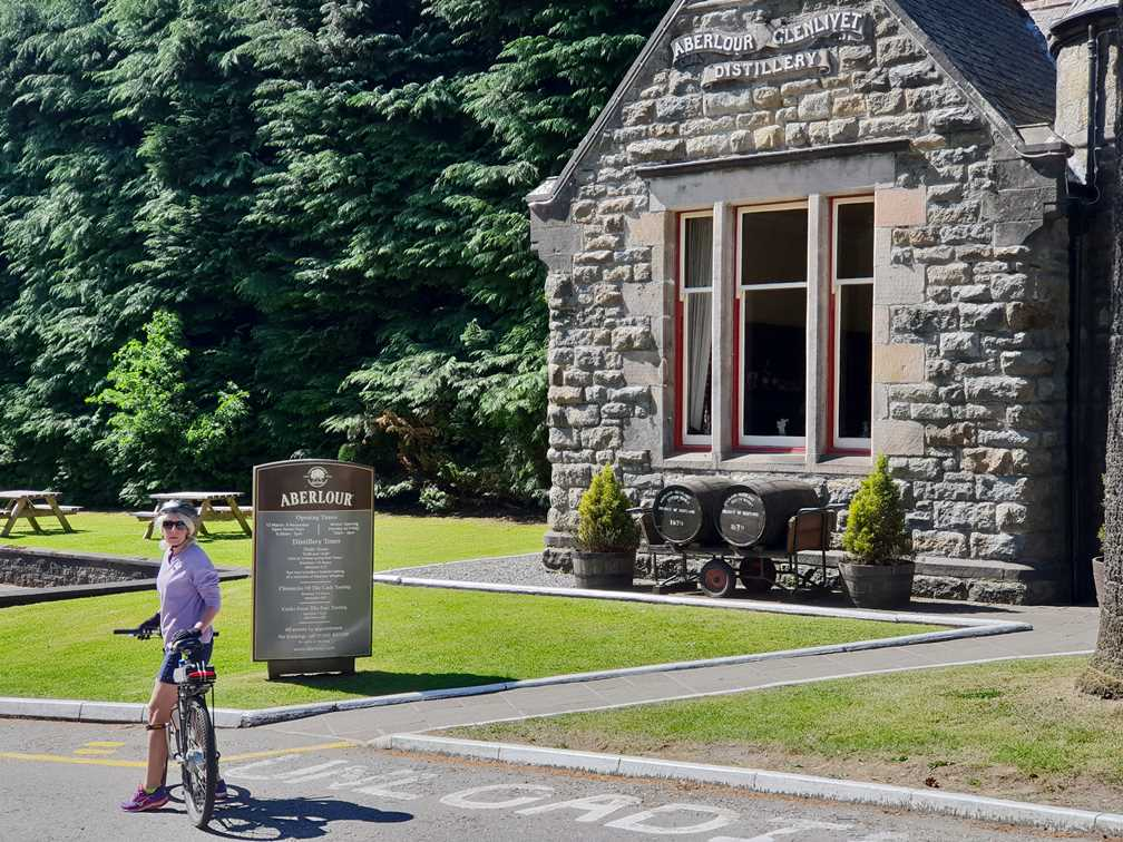 Outside the Aberlour whisky distillery