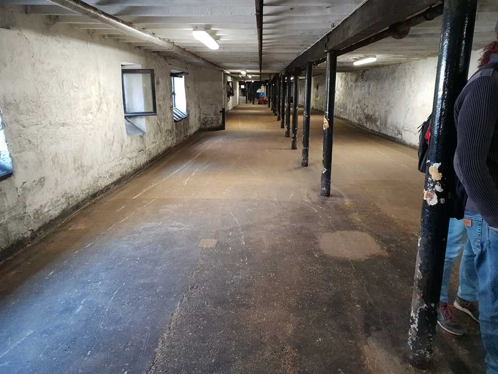 The malting floor in Highland Park