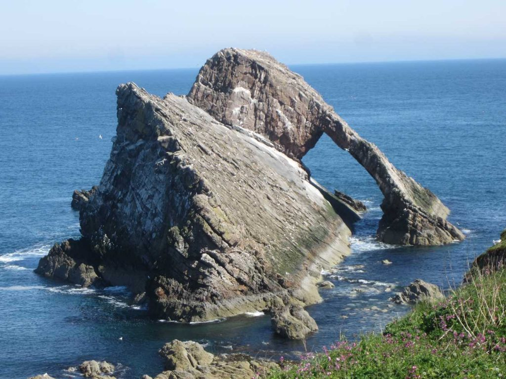 Bow Fiddle Rock on our Scottish Road Trip