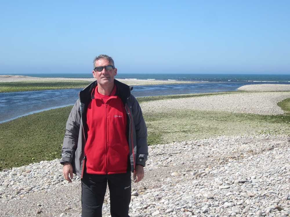 Peter on pebble beach