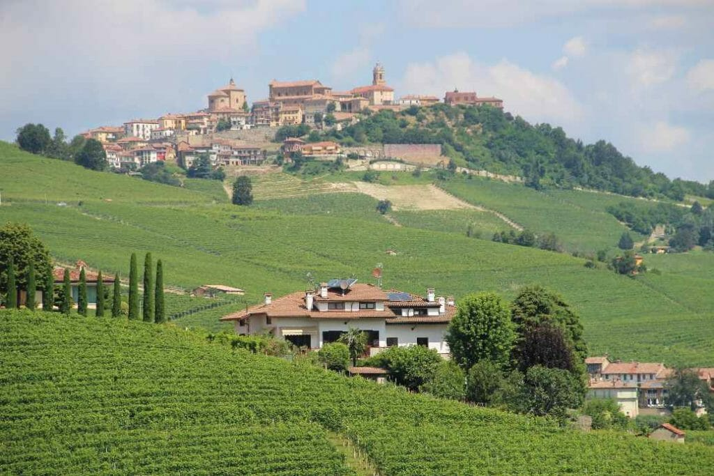 The view from Barolo on a trip to Northern Italy