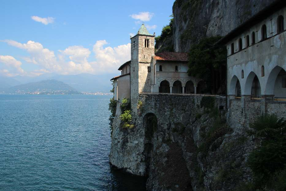 Santa Caterina del Sasso on our trip to Northern Italy