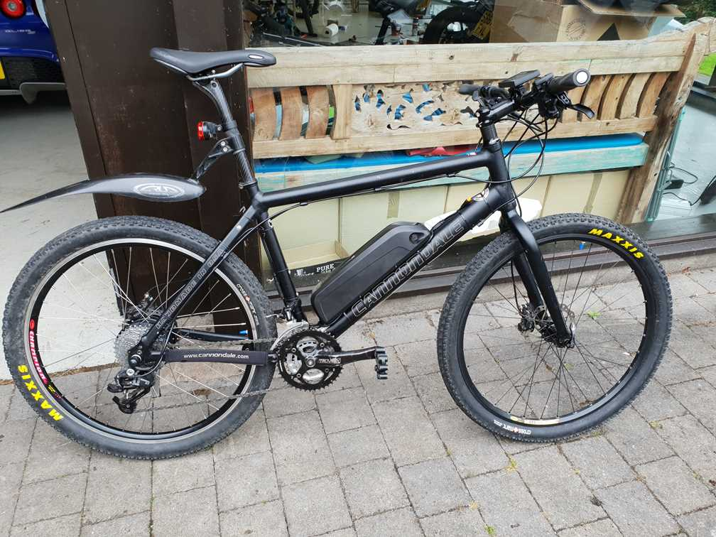 The finished electric bike from the conversion kit