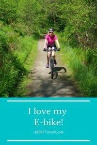 The benefits of E-Bikes pin