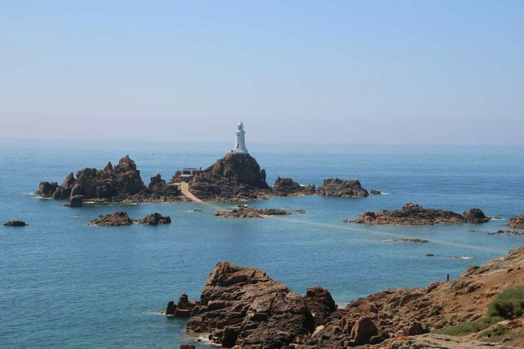 La Corbiere Lighthouse is a must see on Jersey