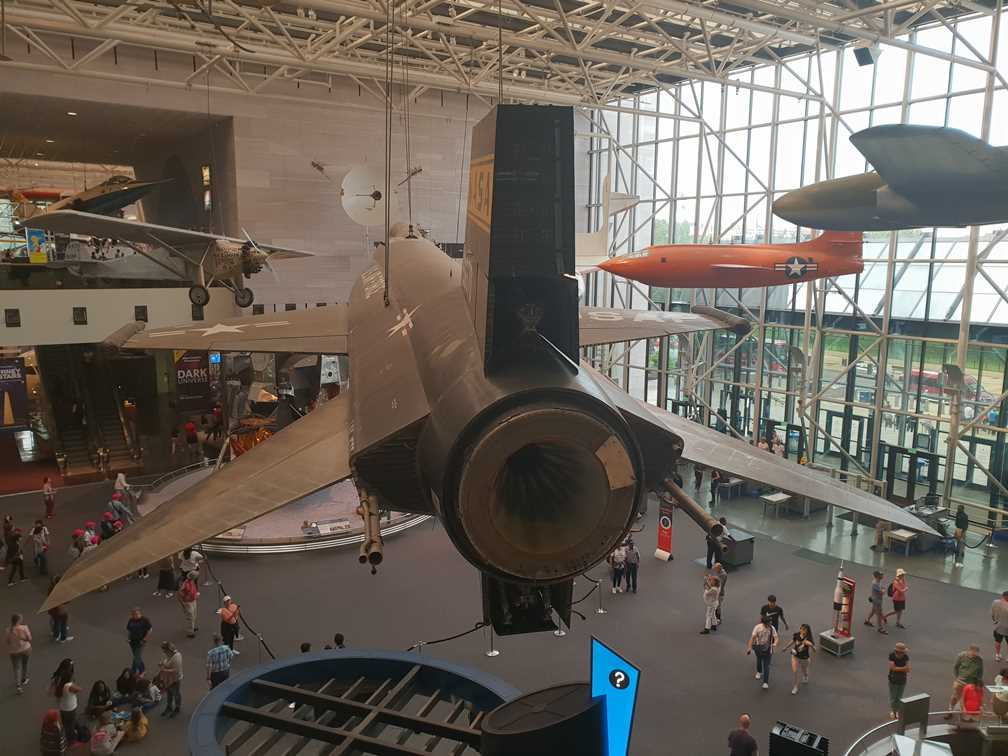 Chuck Yeager's plane in the National Air and Space Museum in Washington DC