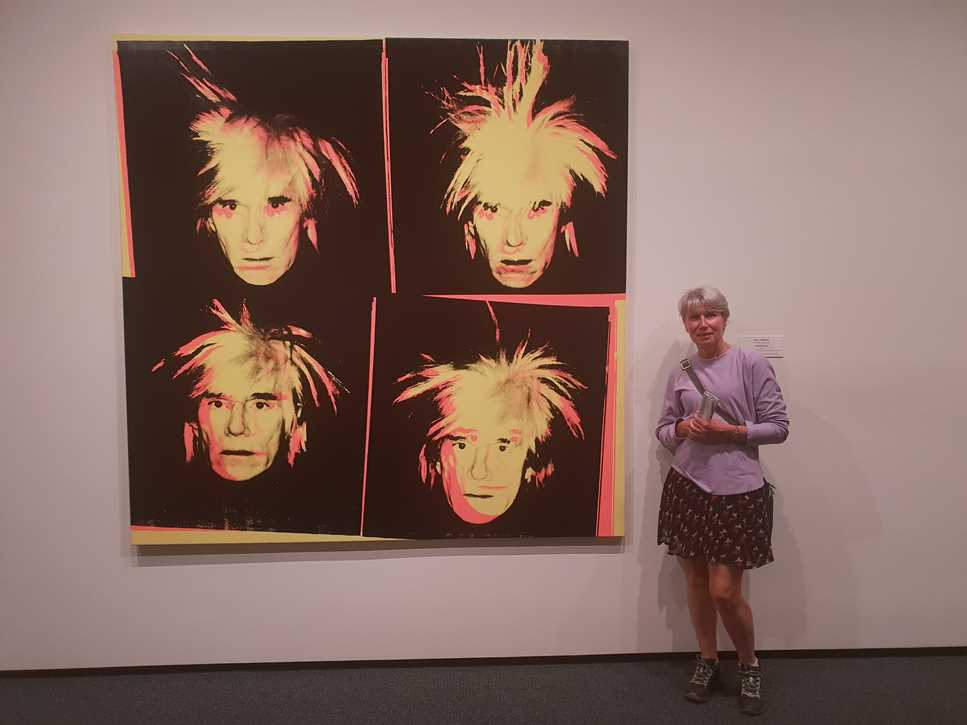 Andy Warhol self portraits in the National Gallery