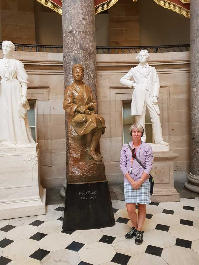 Statue of Rosa Parks in The Capitol