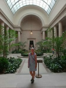 Standing in the atrium in the National Gallery