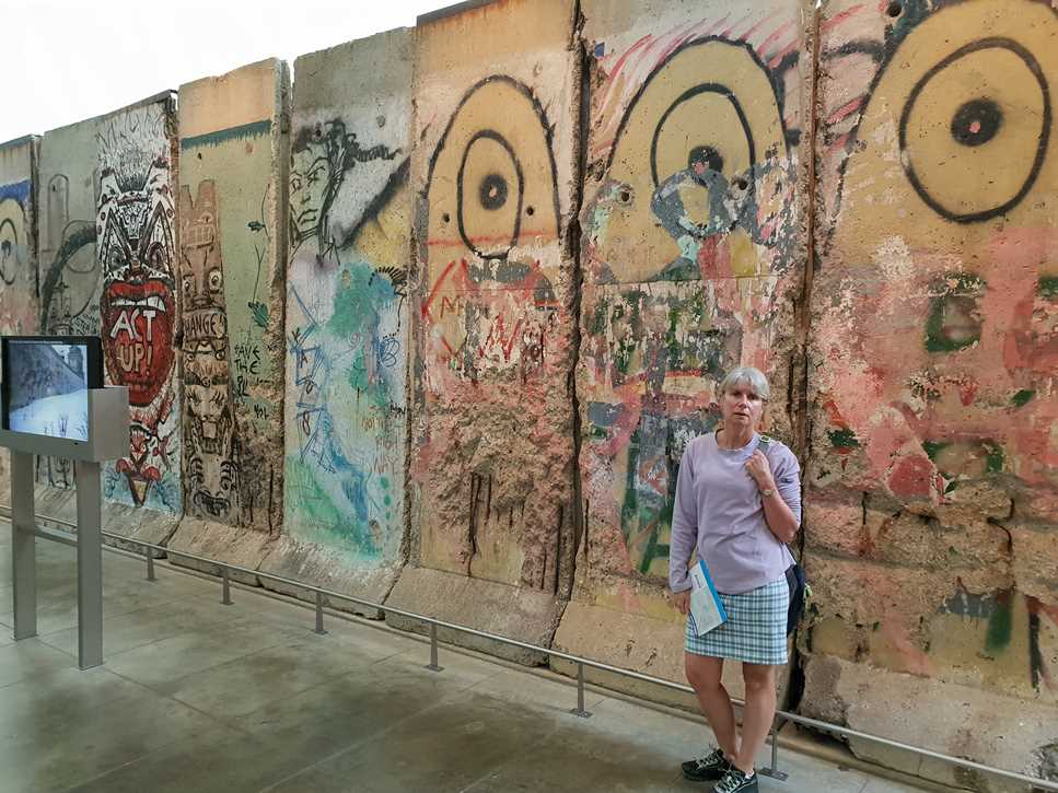 A section from the Berlin Wall in the Newseum