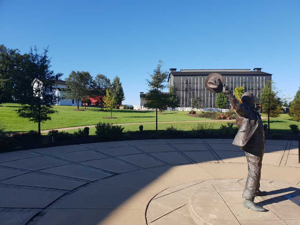 Statue of Jim Beam outside the distillery