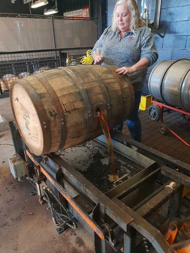 A barrel of new spirit at Jim Beam