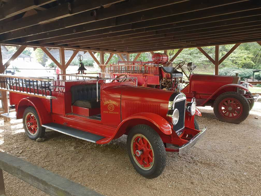 Two vintage looking fire engines