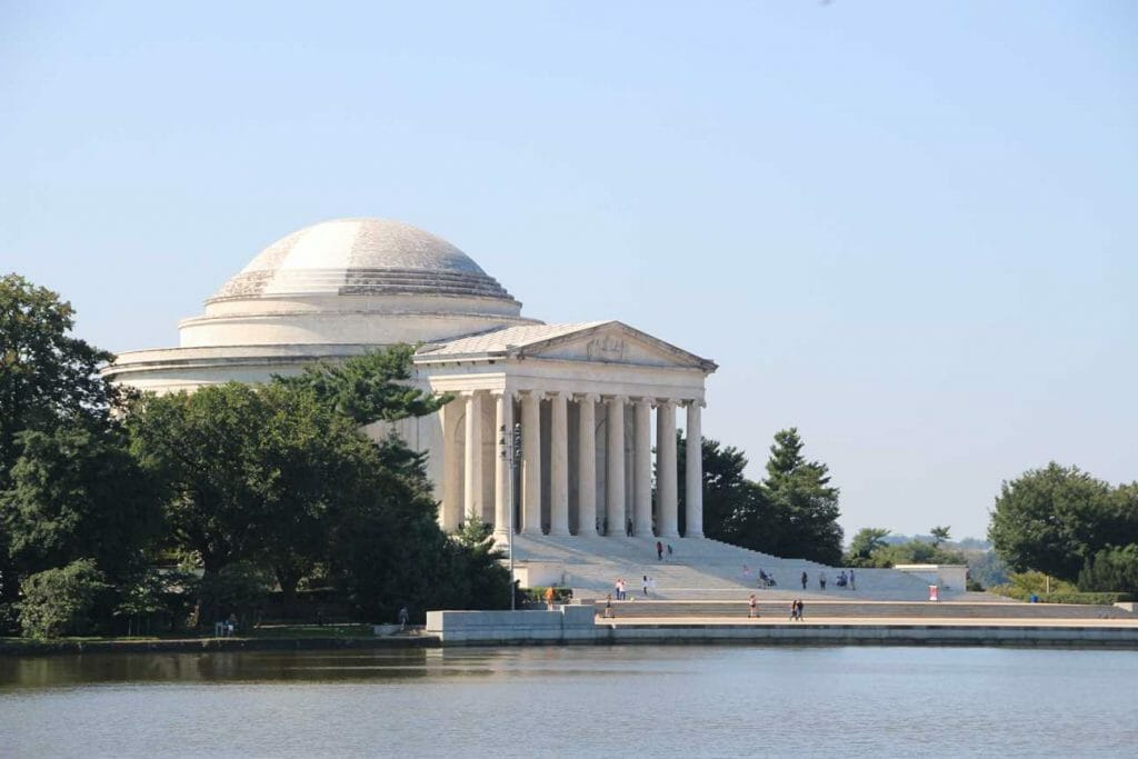 The Jefferson Memorial, one of the iconic landmarks in Washington DC