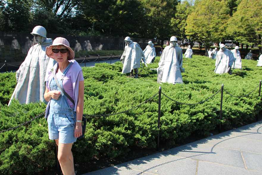 An iconic landmark in Washington DC: the Korean Veterans' War Memorial