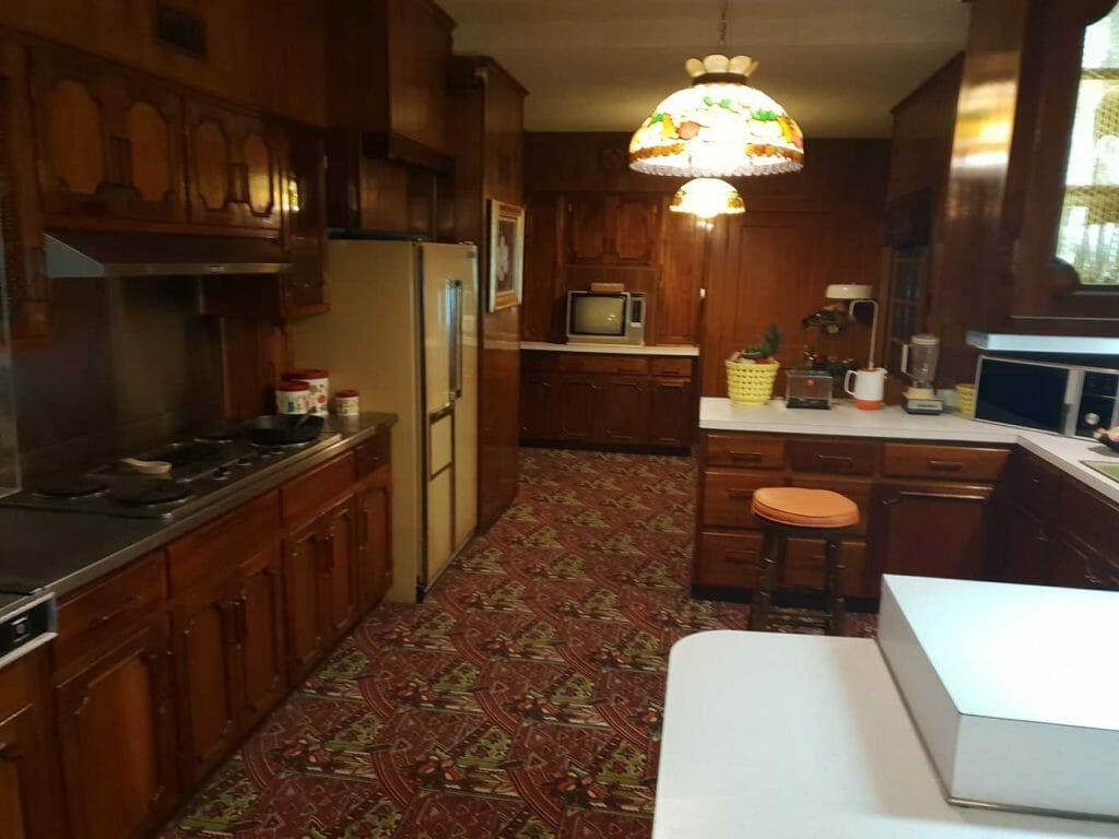 Kitchen on our tour of Graceland