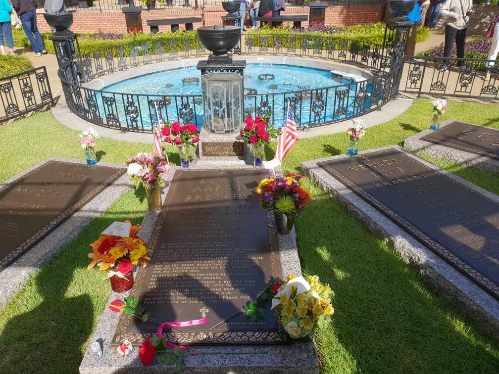 The memorials at Graceland