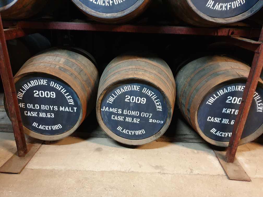 Whisky barrel designated for James Bond