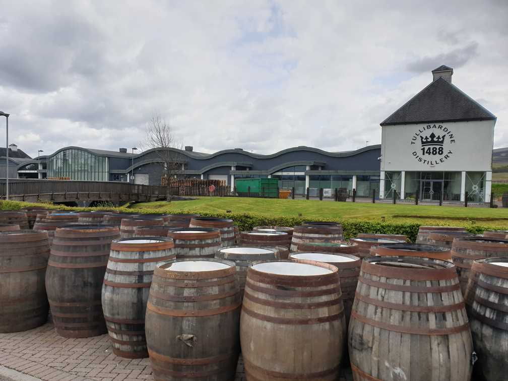 The view outside of Tullibardine, one of the whisky distilleries we visited