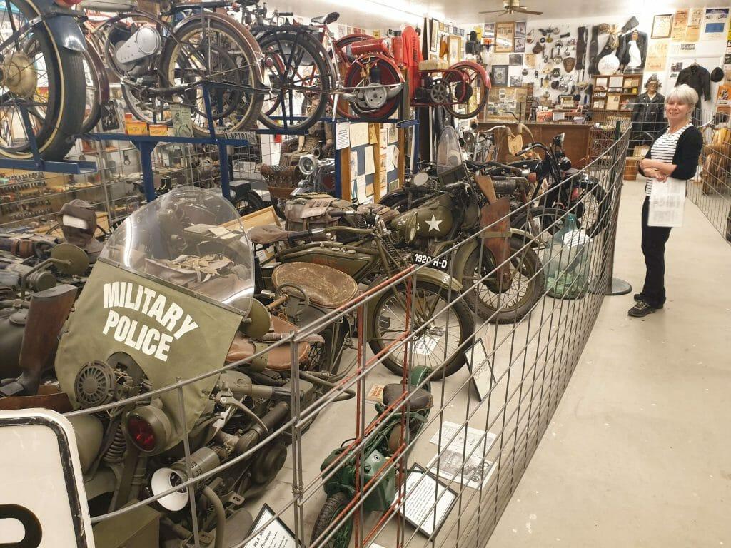 Lots of motorbikes on display
