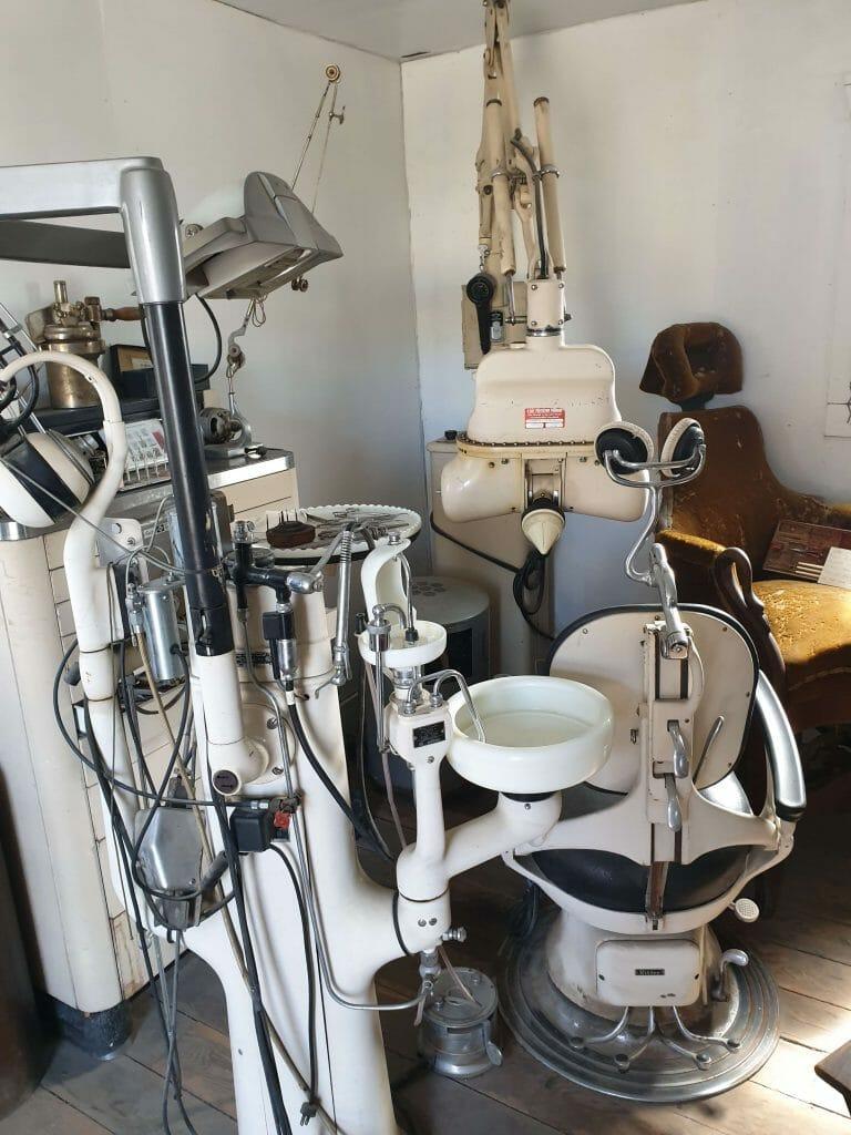 Inside of a dentist surgery