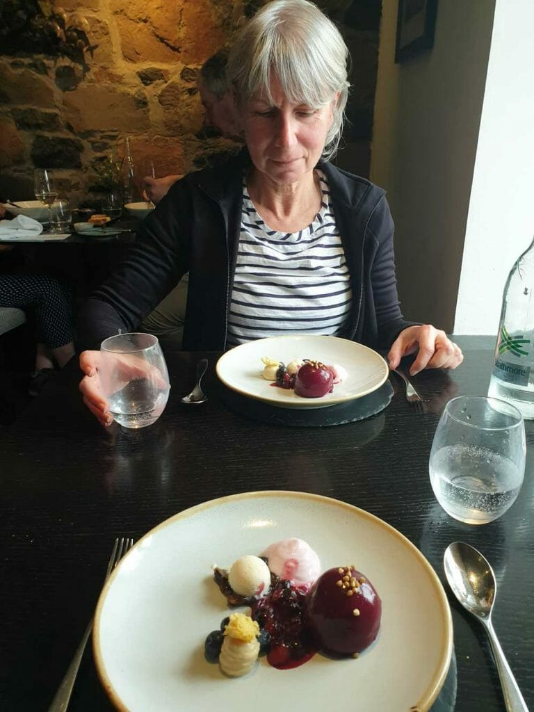 Dessert at the Three Chimneys Restaurant