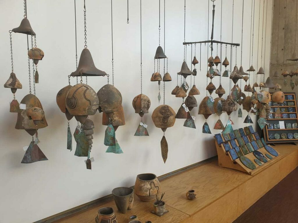 Arcosanti bells on display