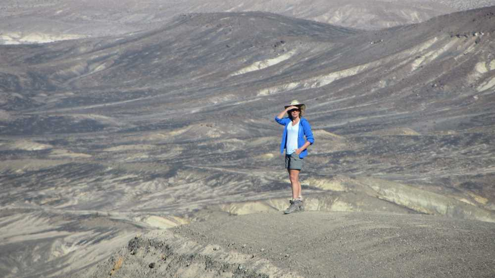 Views from the Ubehebe Crater when exploring Death Valley