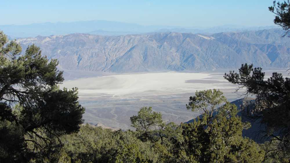 The view over Death Valley from Wildrose Peak