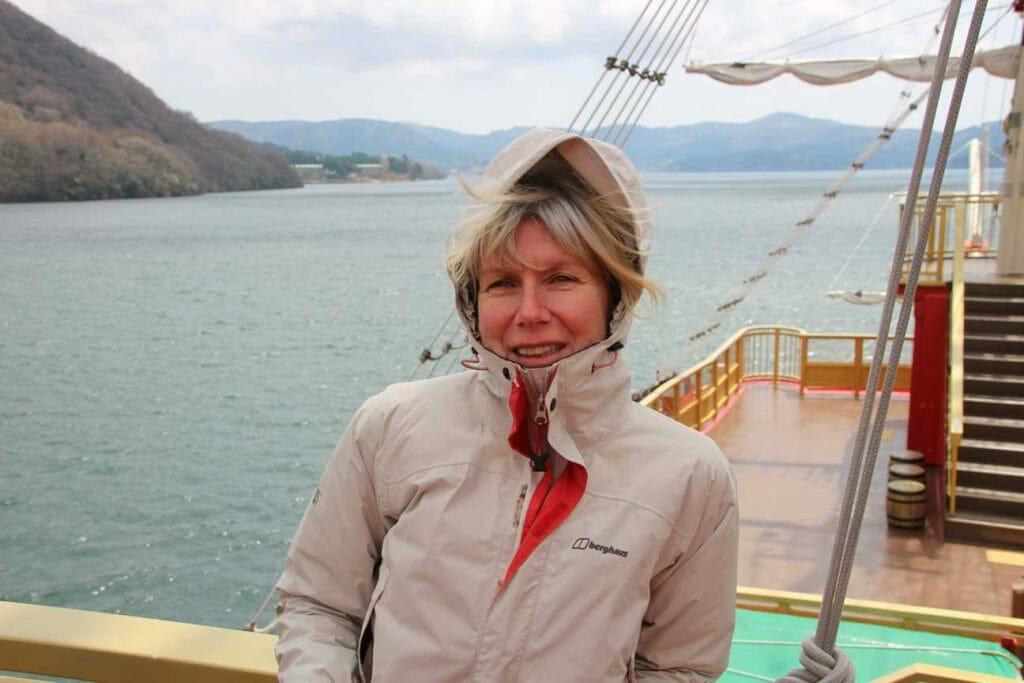 On the boat on Ashinoko Lake