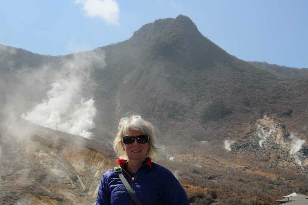 Volcanic activity on the mountain