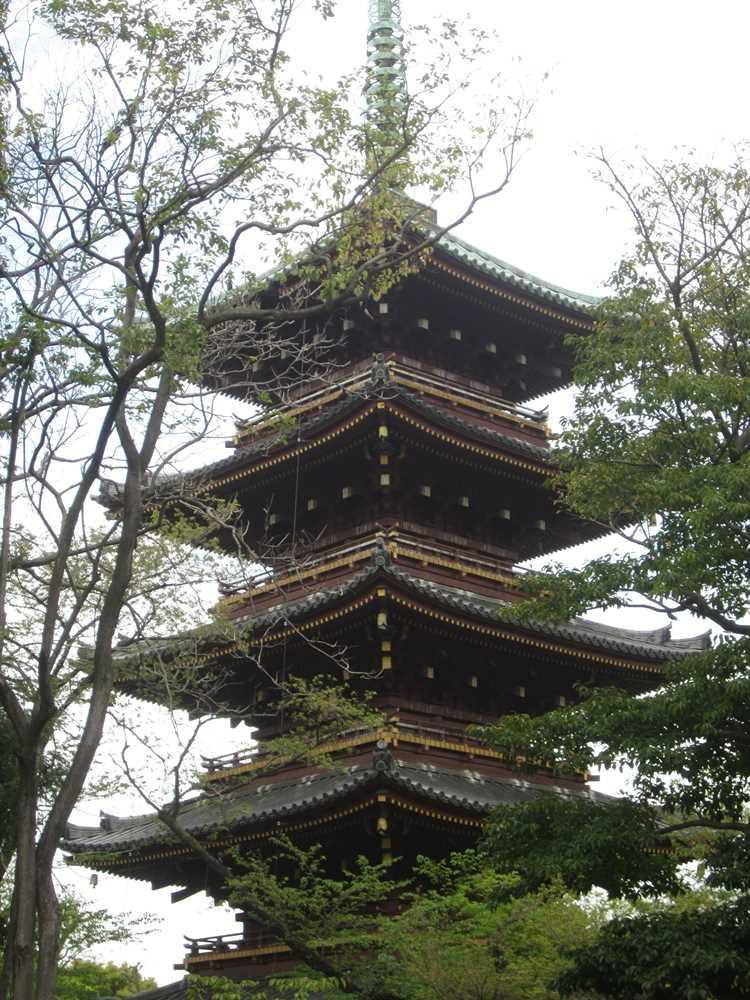 The Pagoda in Ueno Park
