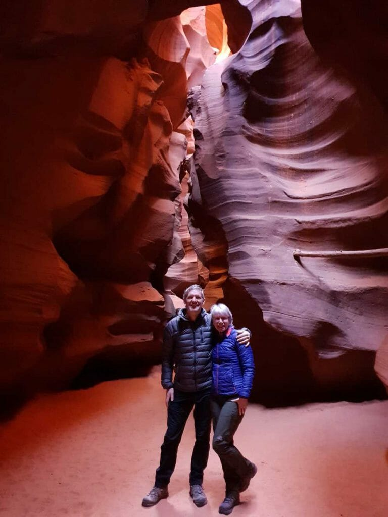 Peter and Jane in Antelope Canyon