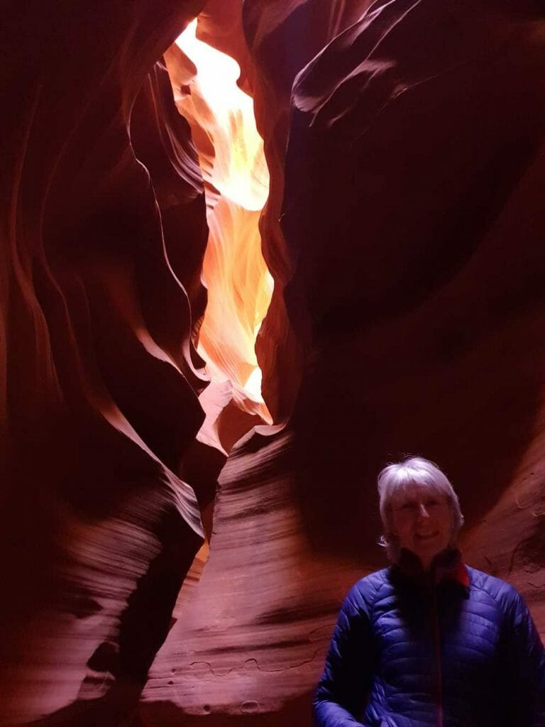 Jane pictured with the ribbon of fire