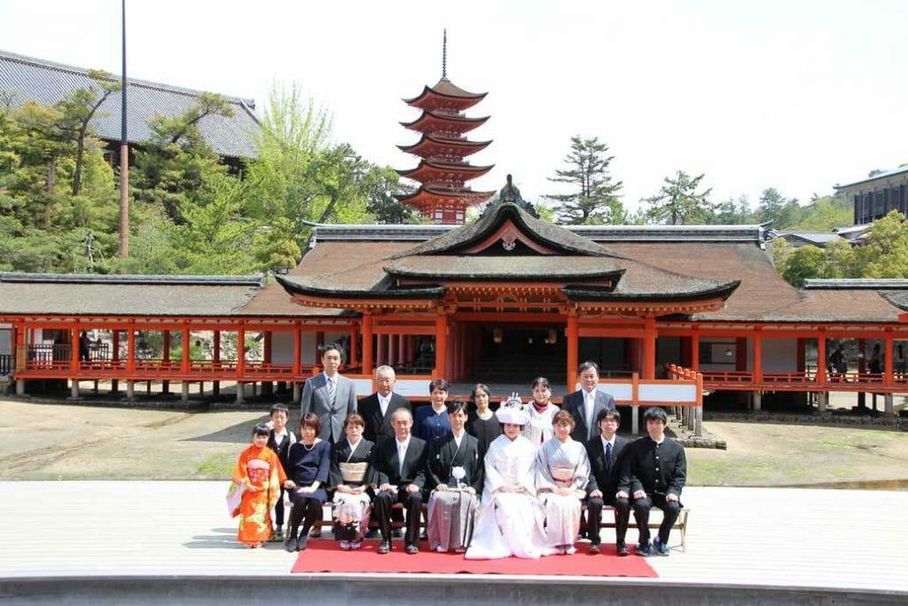 Wedding at the Itsukushima Shrine