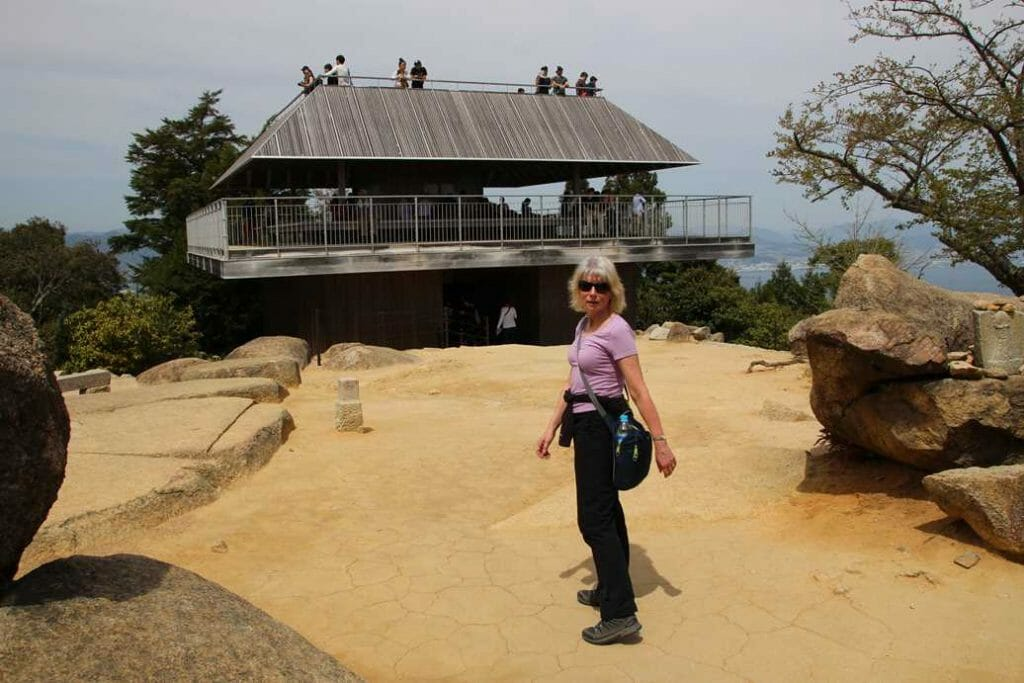 At the summit of Mount Misen
