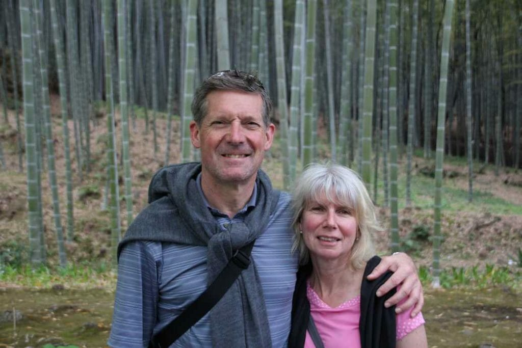 Jane and Peter in the bamboo forest