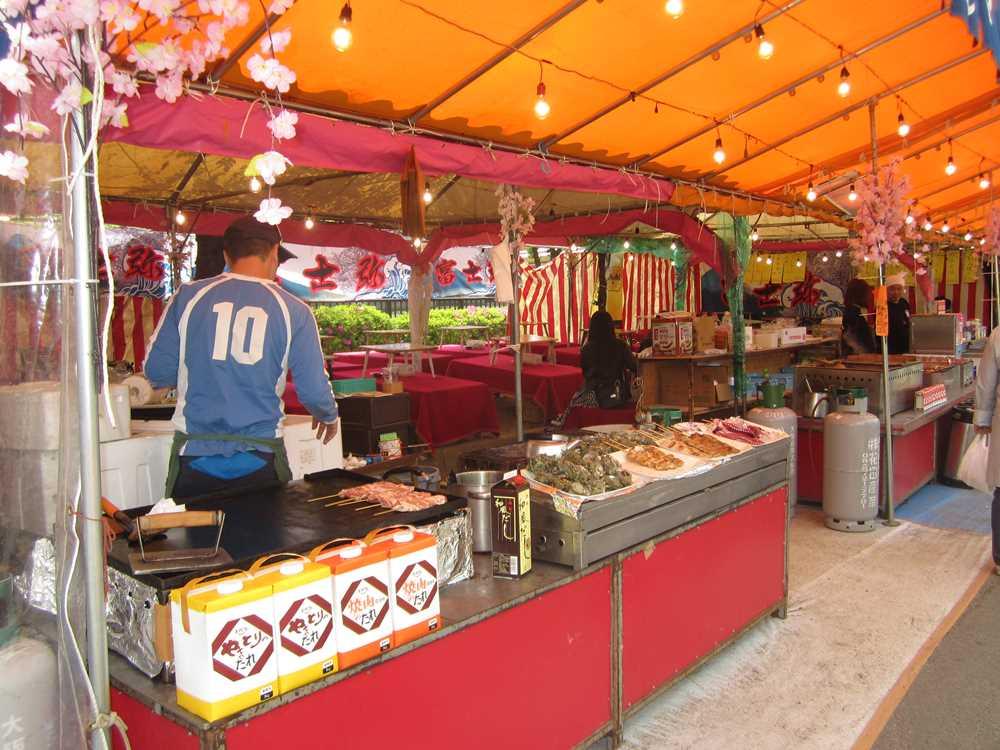 Street food stalls in Osaka
