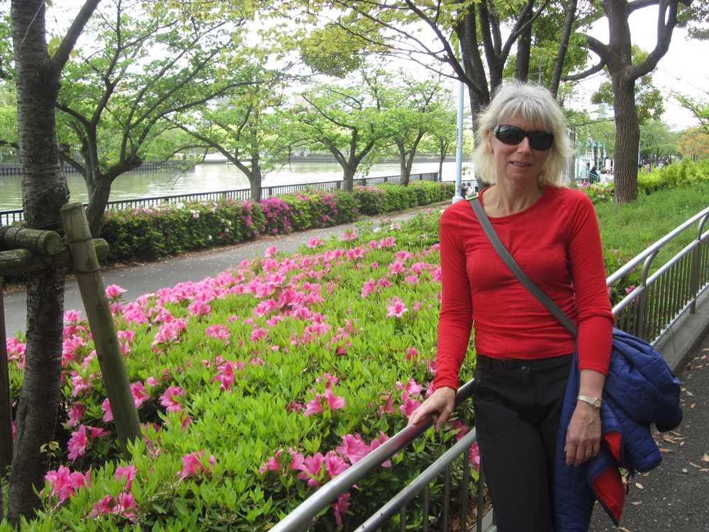 On the river walk in Osaka