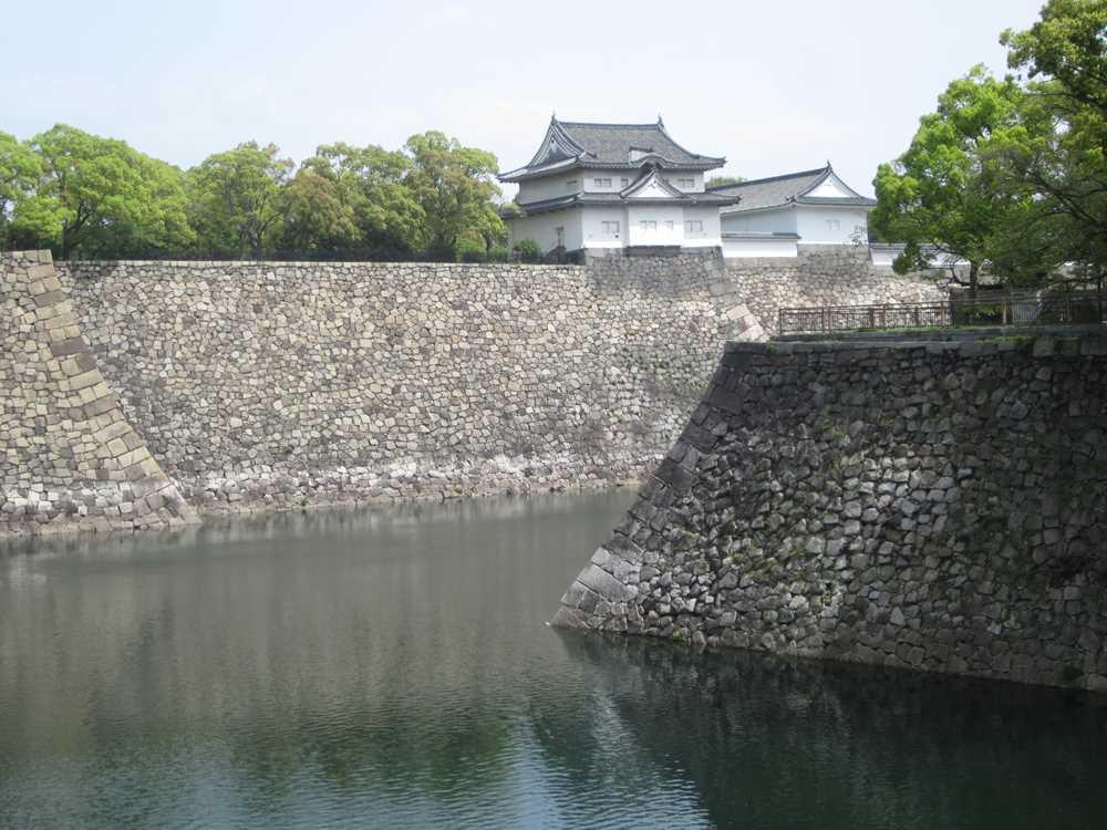 The castle moat in Osaka