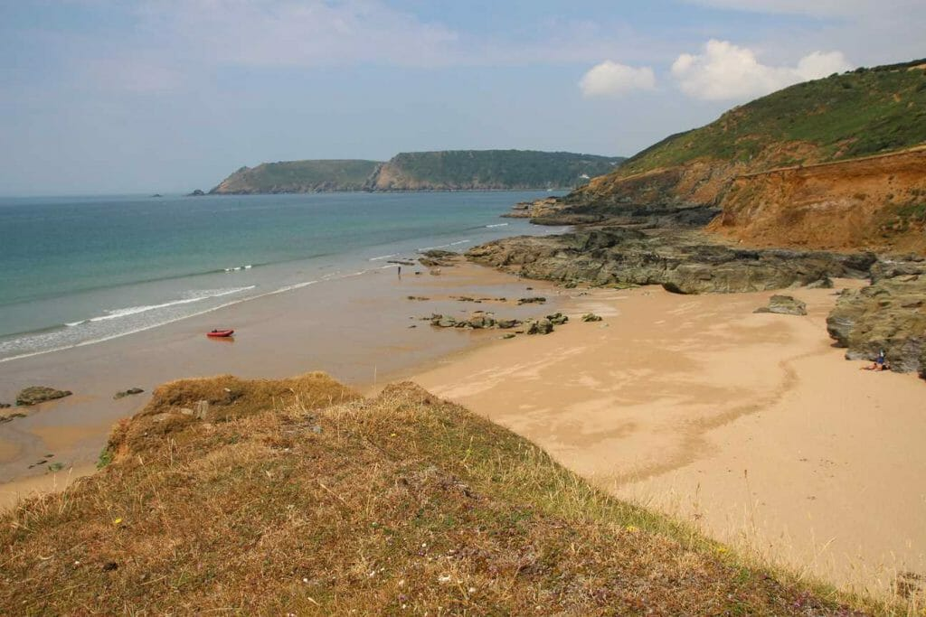 Beach view on English coast