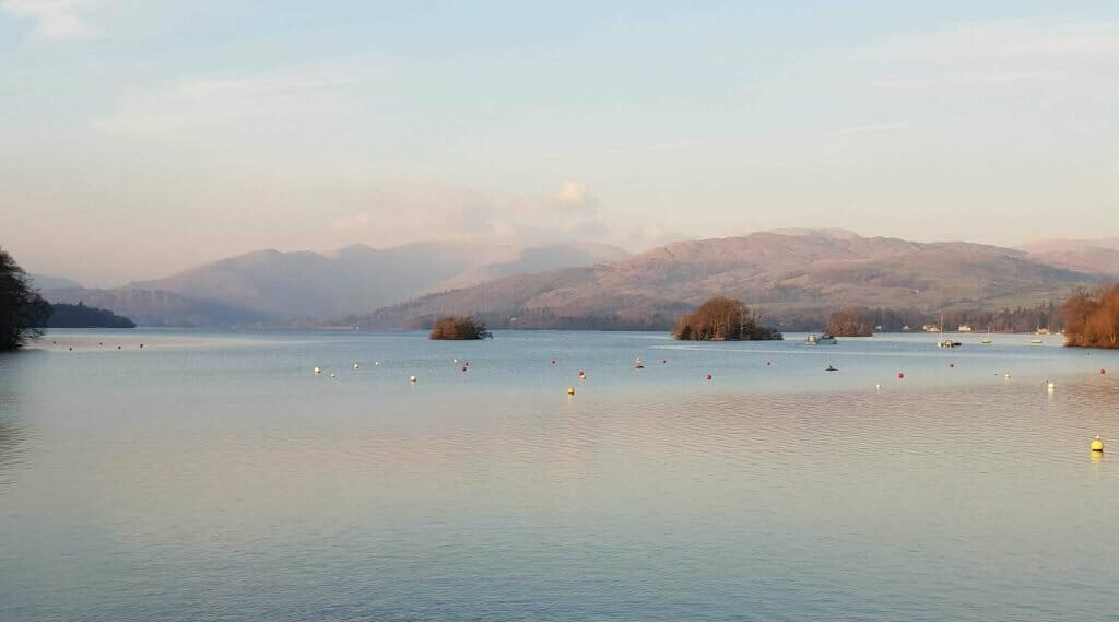 The view from the Glebe in Windermere
