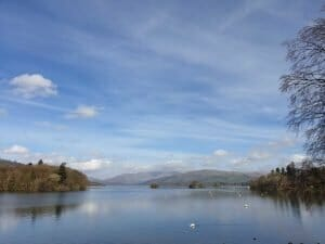 Lake Windermere, starting point for one day in the Lake District