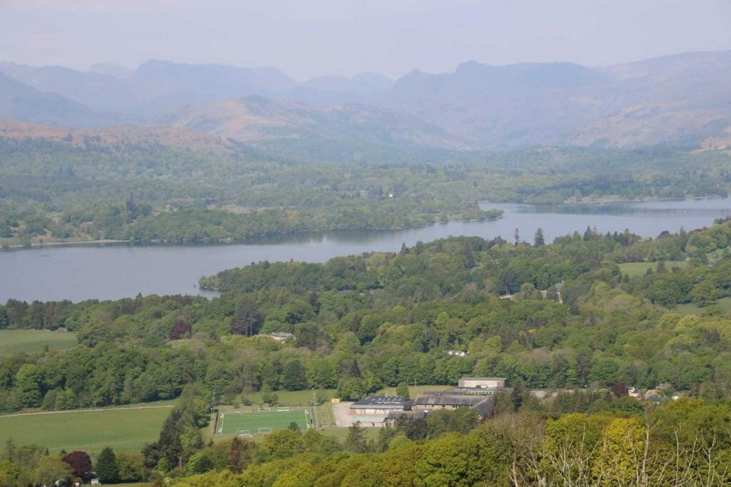 View from Orrest Head, an easy walk in the Lake District