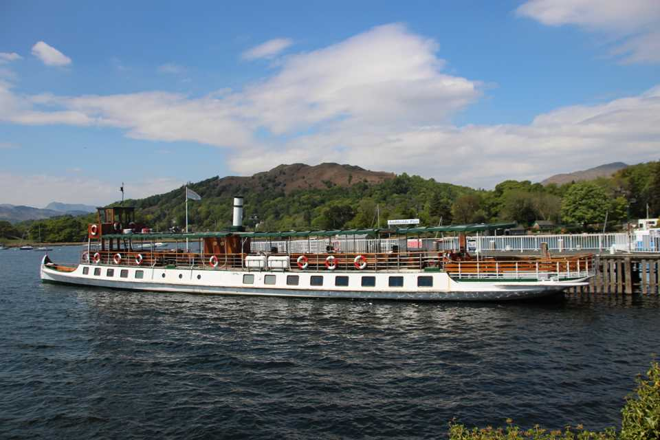 A trip on a Windermere steamer is a must on one day in the Lake District