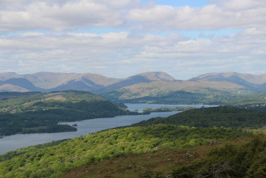 View from the top of Gummer's How on easy walks in the Lake Distrcit
